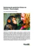 Bestimmung der genetischen Distanz von Primaten