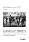 """Planspiel """"Wiener Kongress 1815"""""""