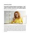 Aufgaben bewerten, verteilen und Feedback geben im Online-Unterricht