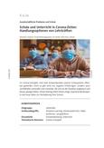 Schule und Unterricht in Corona-Zeiten: Handlungsoptionen von Lehrkräften