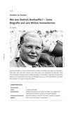 Wer war Dietrich Bonhoeffer?