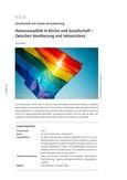 Der Umgang mit Homosexualität in Kirche und Gesellschaft -