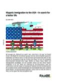 Hispanic immigration to the USA