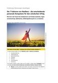 Die 7 Faktoren von Resilienz – die entscheidende personale Kompetenz für schulischen Erfolg