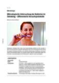 Mikroskopische Untersuchung der Bakterien im Zahnbelag