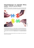 Rahmenbedingungen für zeitgemäße Bildung schaffen