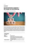 Sprachmechanismen analysieren