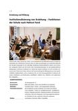 Institutionalisierung von Erziehung